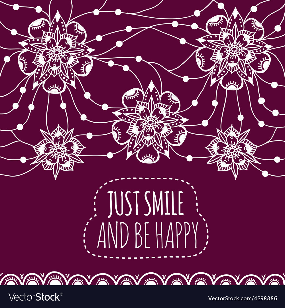 Banner just smile and be happy vector | Price: 1 Credit (USD $1)