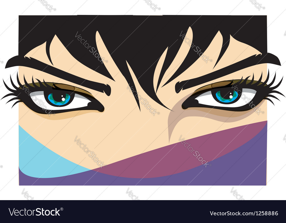Beautiful woman eye vector