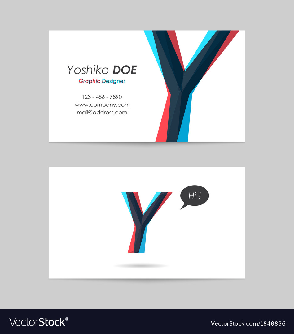 Business card template - letter y vector | Price: 1 Credit (USD $1)