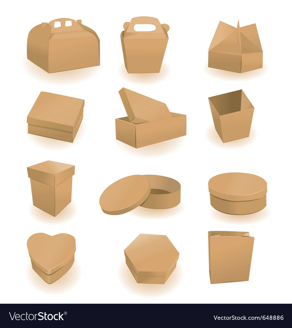 Cardboard packaging vector | Price: 1 Credit (USD $1)