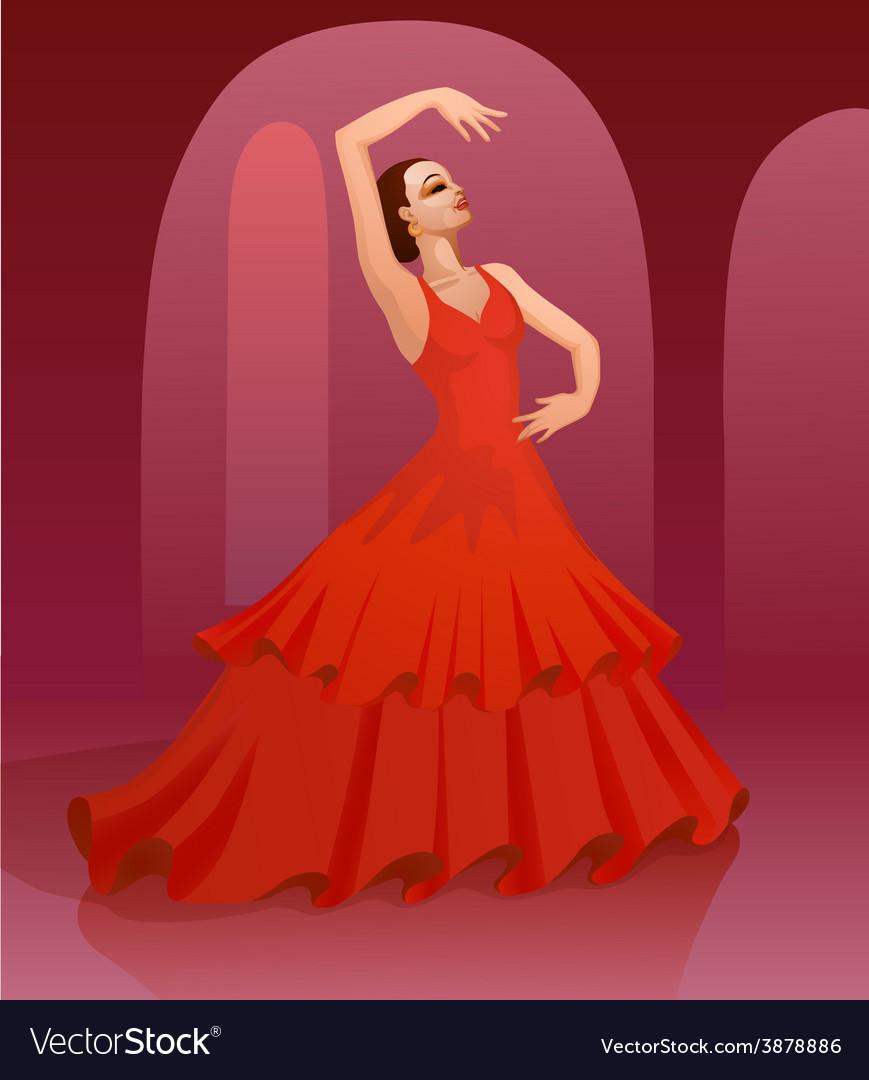Flamenco dance vector   Price: 1 Credit (USD $1)