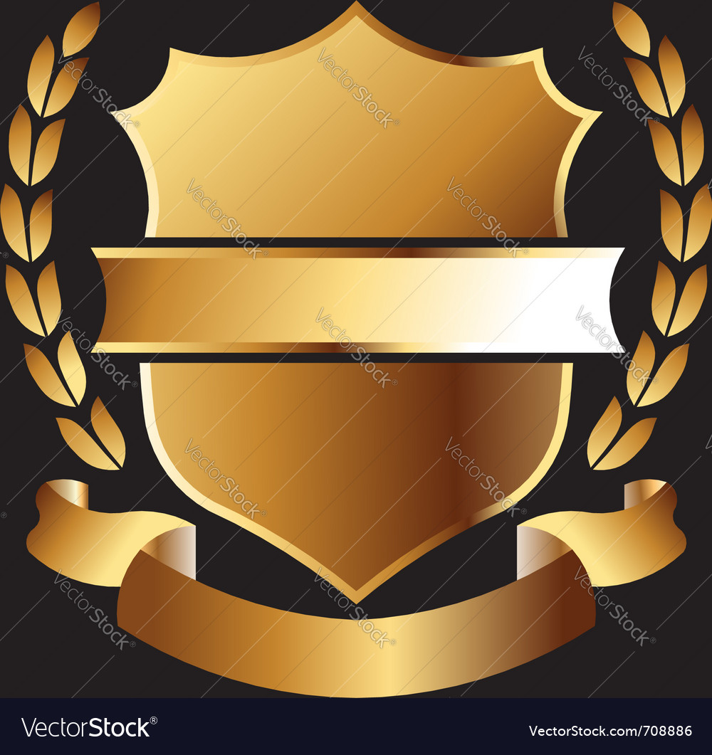 Gold emblem vector | Price: 1 Credit (USD $1)