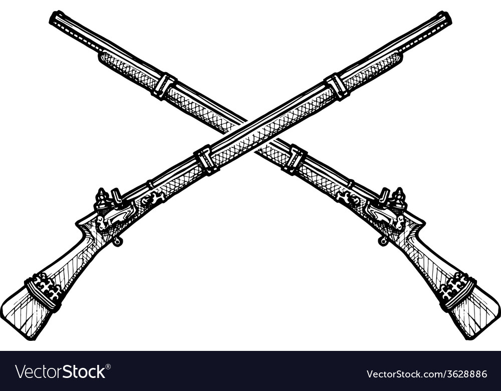 Old musket vector | Price: 1 Credit (USD $1)