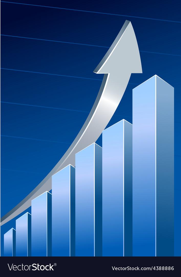 Silver growth arrow vector | Price: 1 Credit (USD $1)