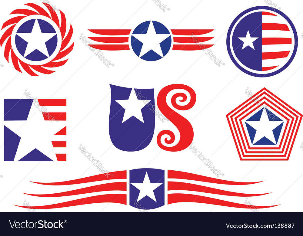 American patriotic symbols vector | Price: 1 Credit (USD $1)