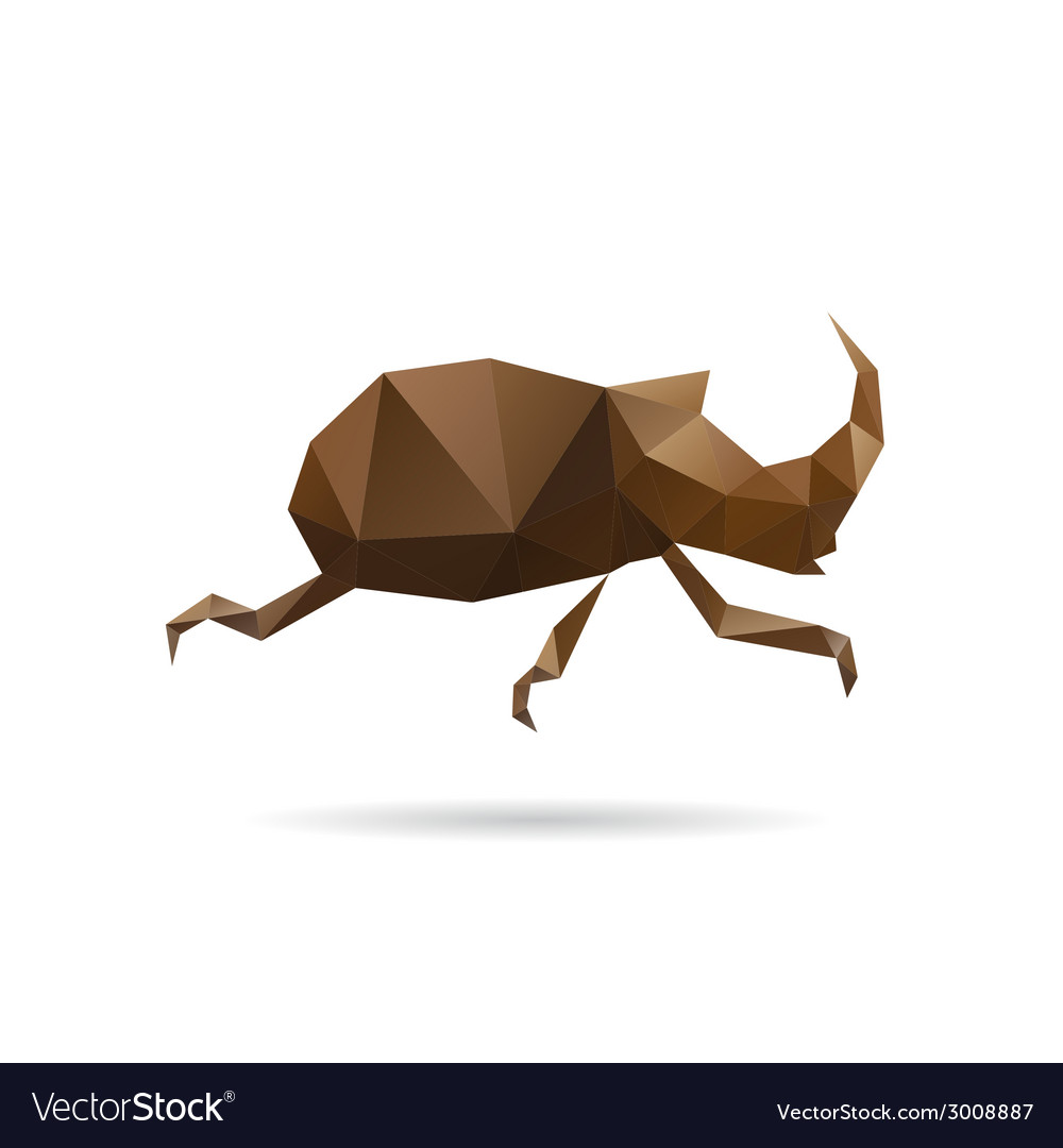 Beetle abstract isolated vector | Price: 1 Credit (USD $1)
