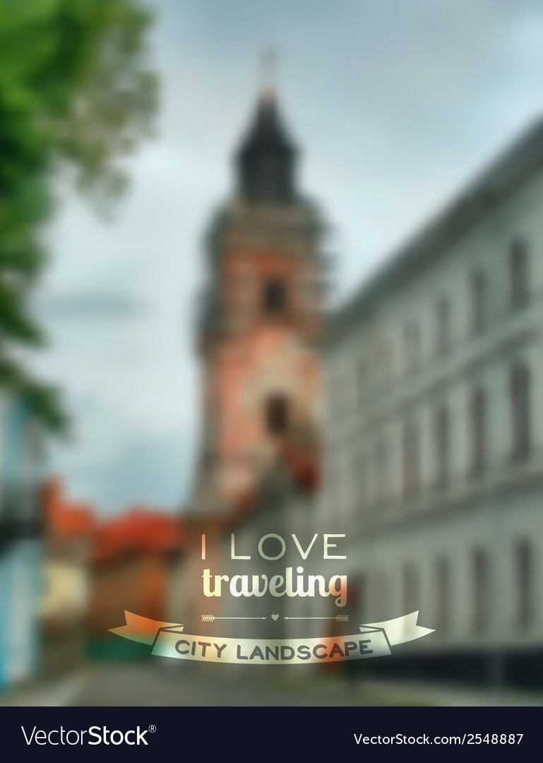 Blurred traveling city background web and mobile vector | Price: 1 Credit (USD $1)