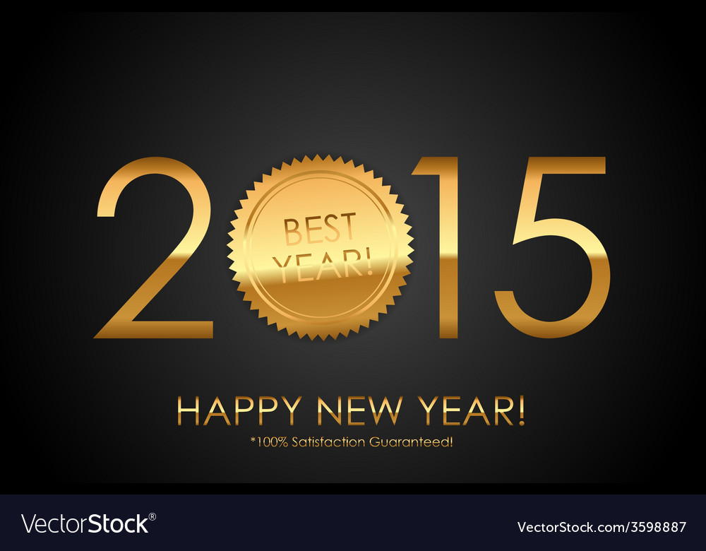 Certificate  2015 best year 100 satisfaction vector
