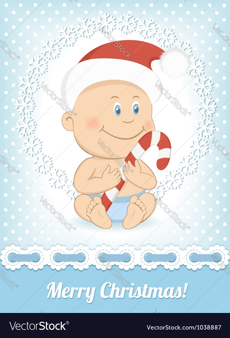 Funny christmas baby boy vector | Price:  Credit (USD $)