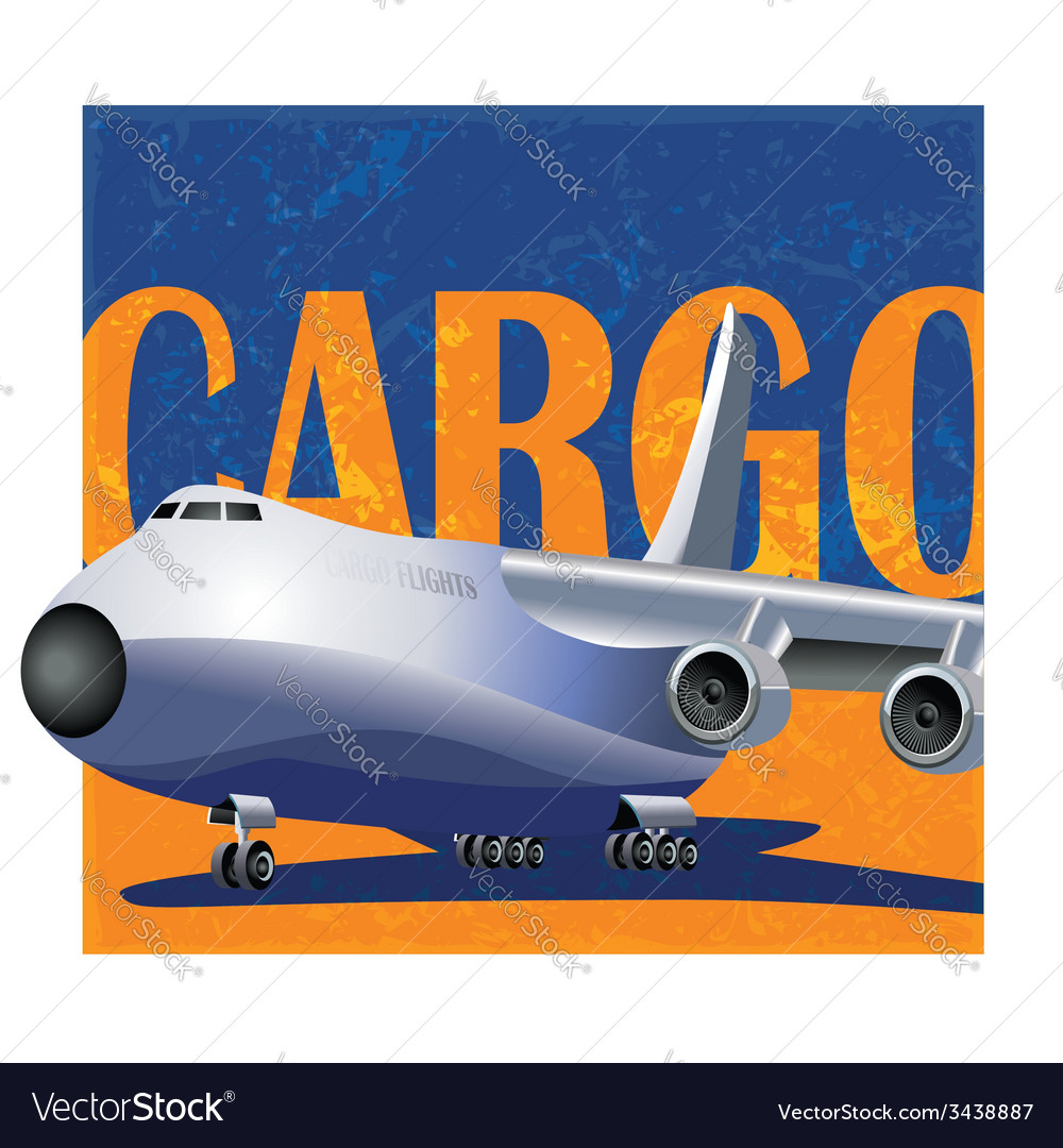 Large cargo aircraft vector   Price: 1 Credit (USD $1)