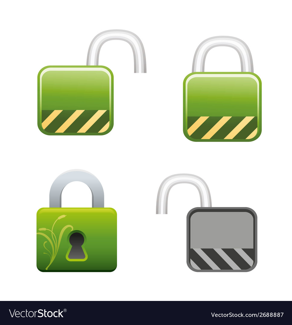 Lock locked and unlocked vector | Price: 1 Credit (USD $1)