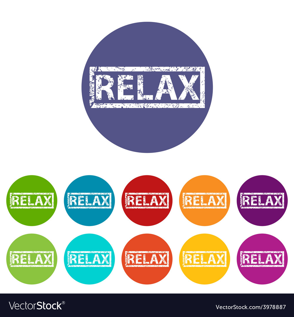 Relax flat icon vector | Price: 1 Credit (USD $1)