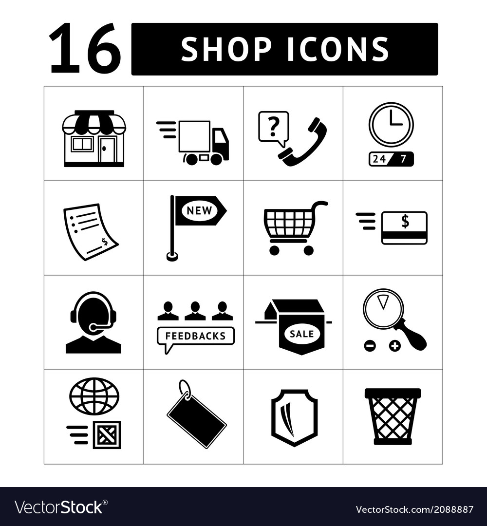 Shopping and e-commerce icons set vector | Price: 1 Credit (USD $1)