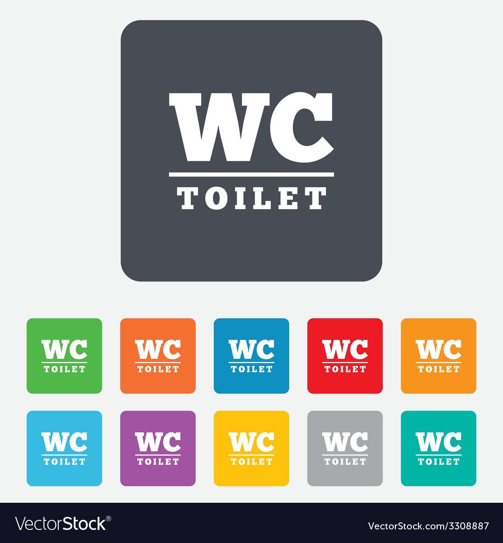 Wc toilet sign icon restroom symbol vector | Price: 1 Credit (USD $1)