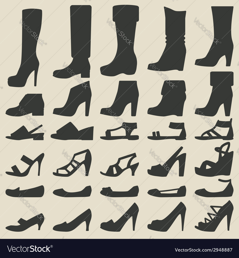 Women shoes set vector | Price: 1 Credit (USD $1)