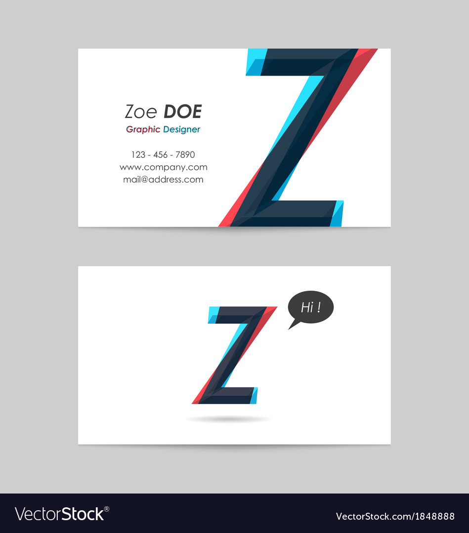 Business card template - letter z vector | Price: 1 Credit (USD $1)