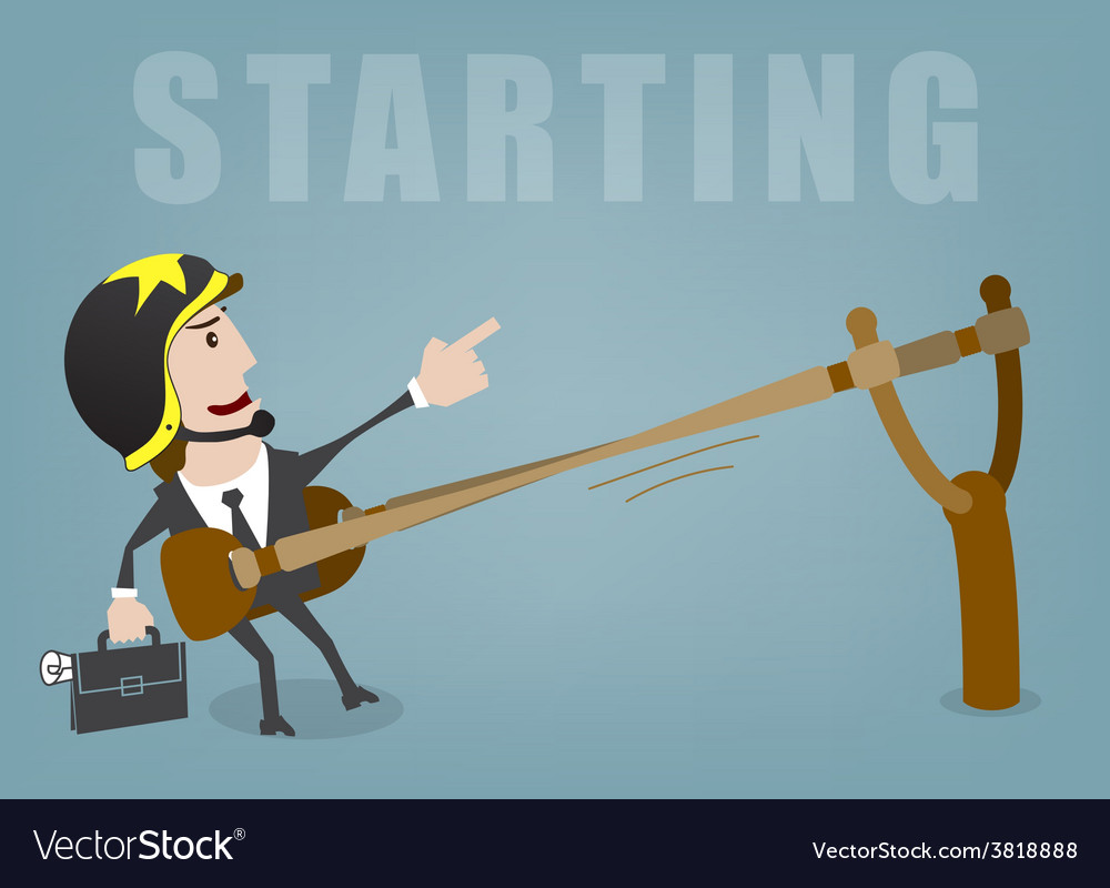 Business start vector | Price: 1 Credit (USD $1)
