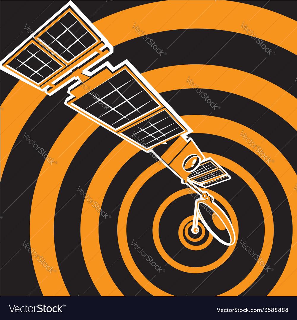 Communication satellite vector   Price: 1 Credit (USD $1)