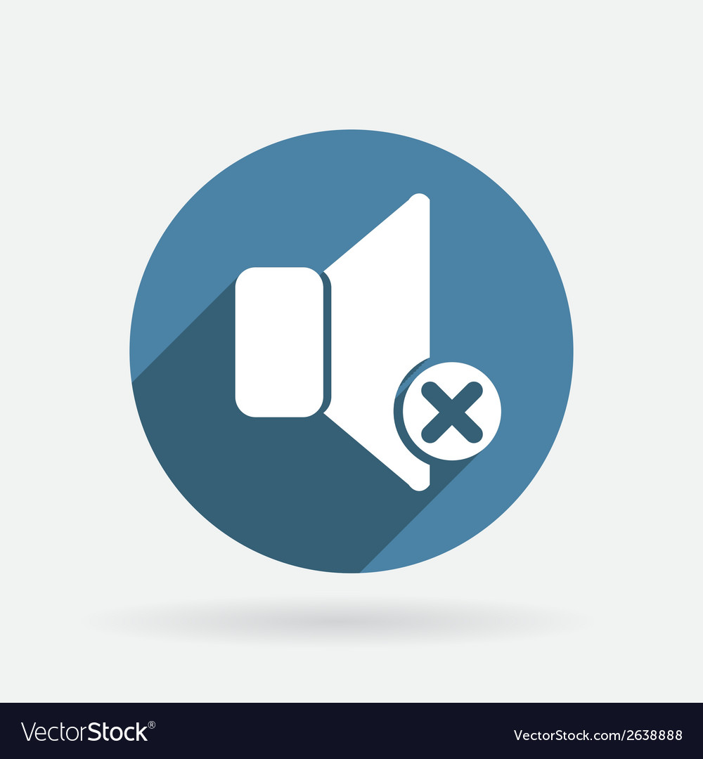 Loudspeaker circle blue icon with shadow vector | Price: 1 Credit (USD $1)