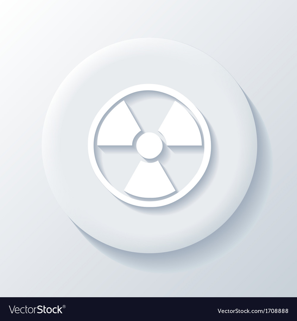 Nuclear 3d paper icon vector | Price: 1 Credit (USD $1)