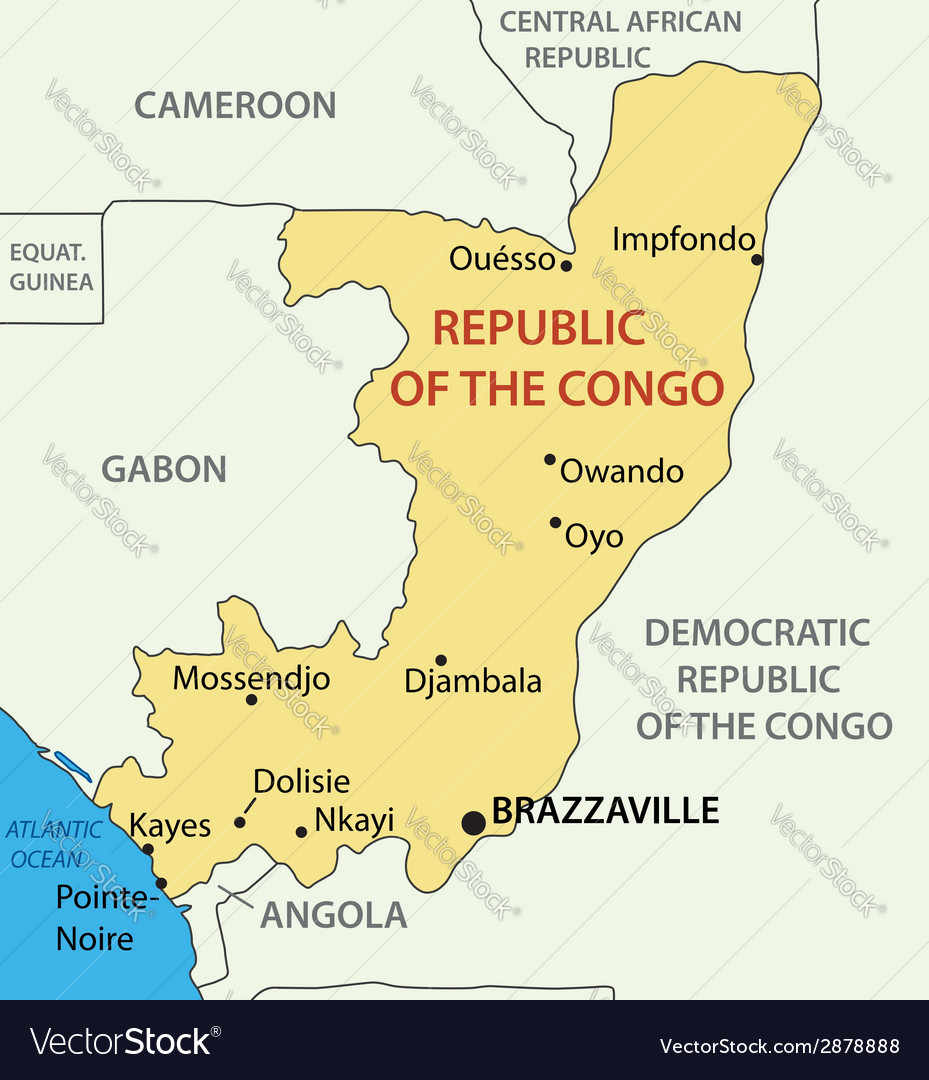 Republic of the congo - map vector | Price: 1 Credit (USD $1)