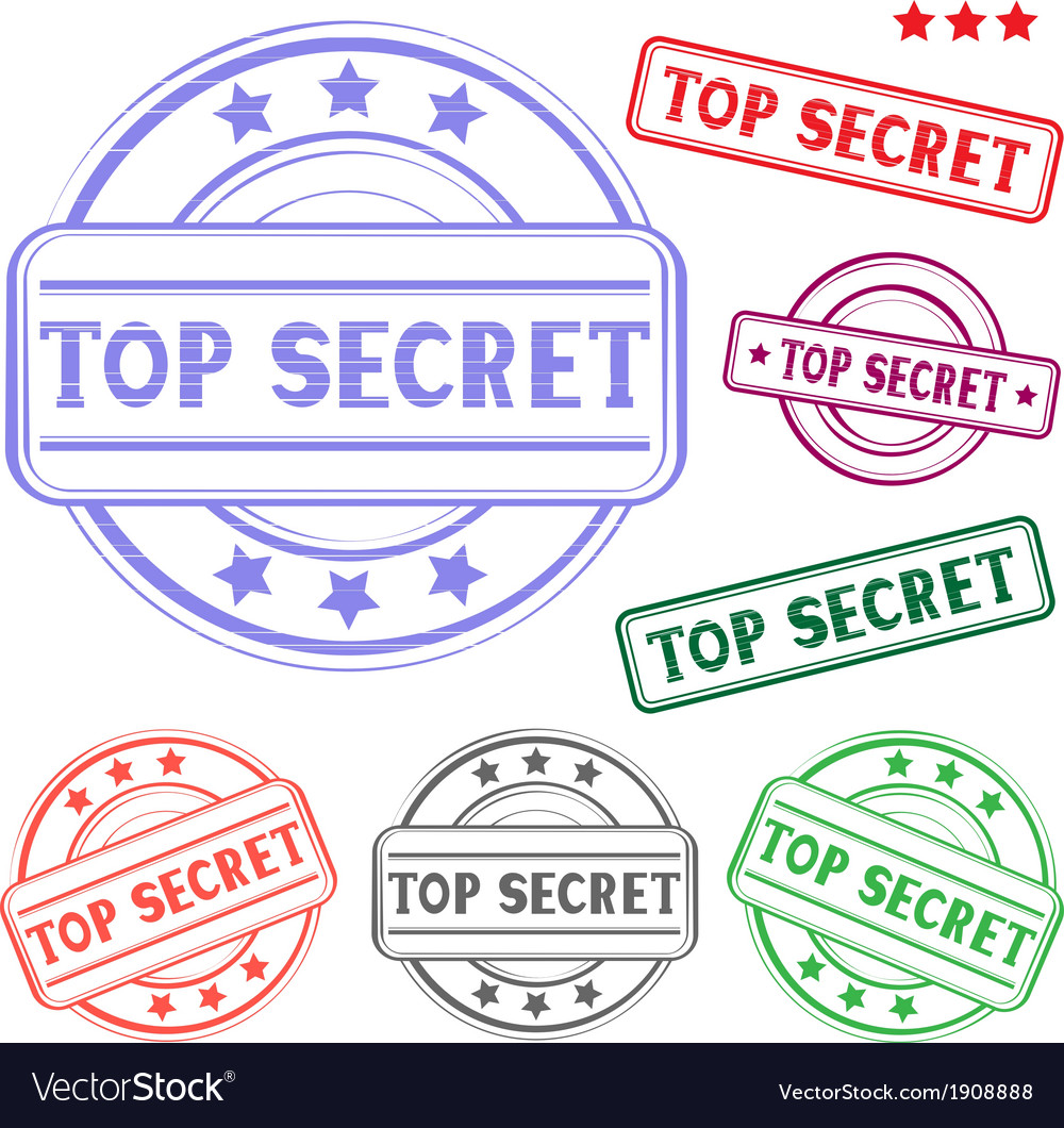 Top secret stamp vector | Price: 1 Credit (USD $1)