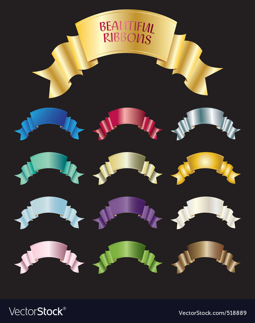 Beautiful ribbons vector | Price: 1 Credit (USD $1)