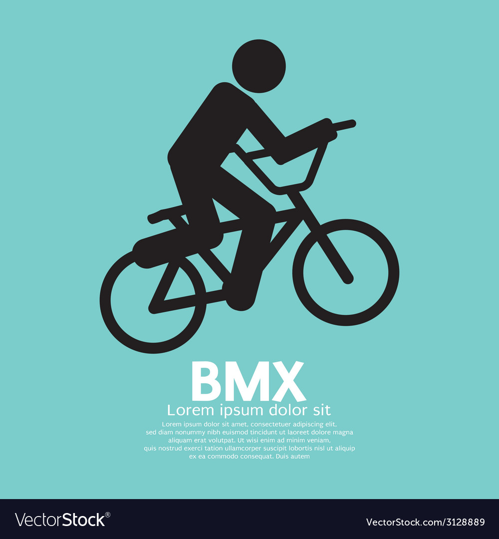 Bmx bicycle sign vector | Price: 1 Credit (USD $1)