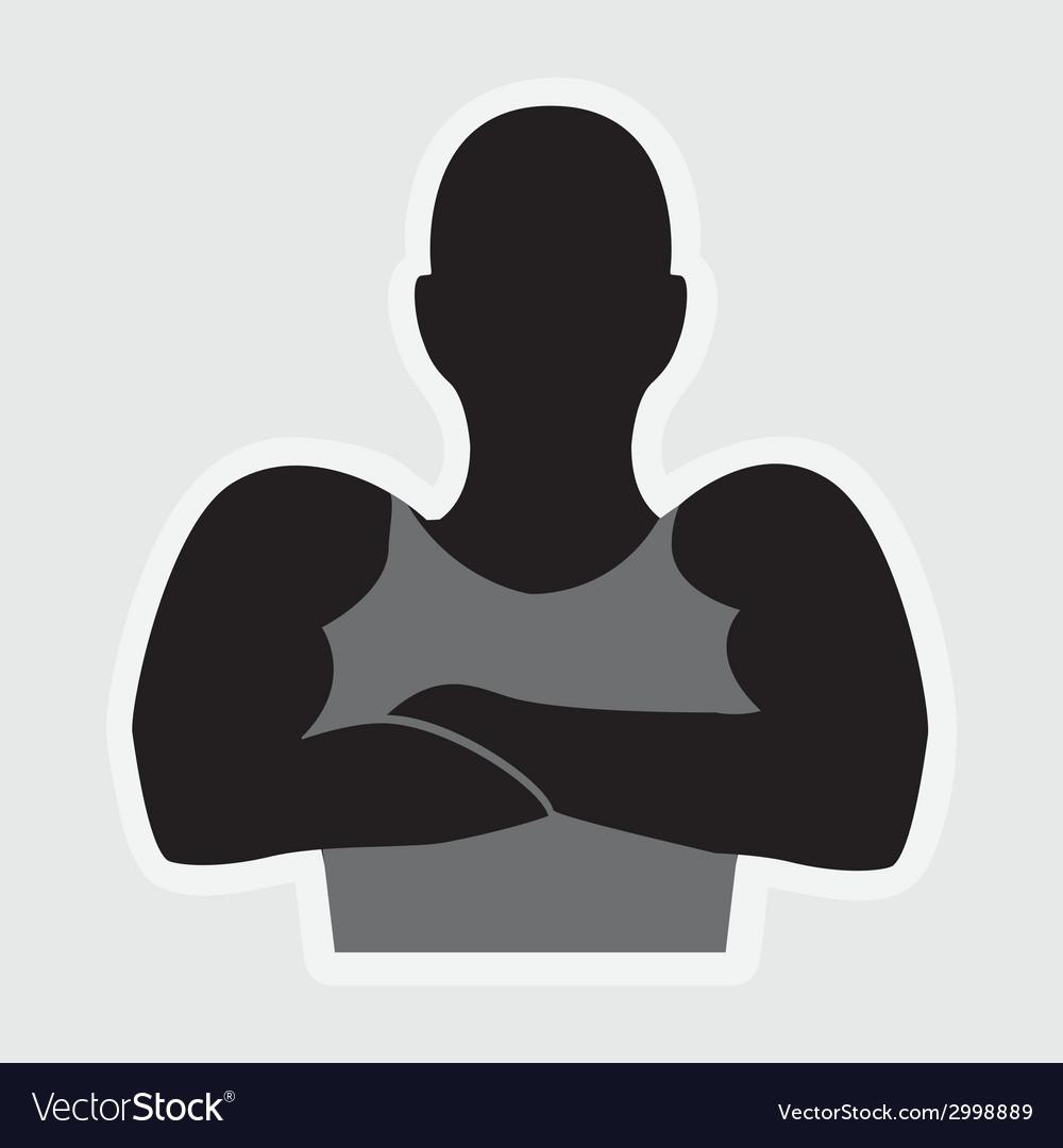 Bodybuilder design vector | Price: 1 Credit (USD $1)