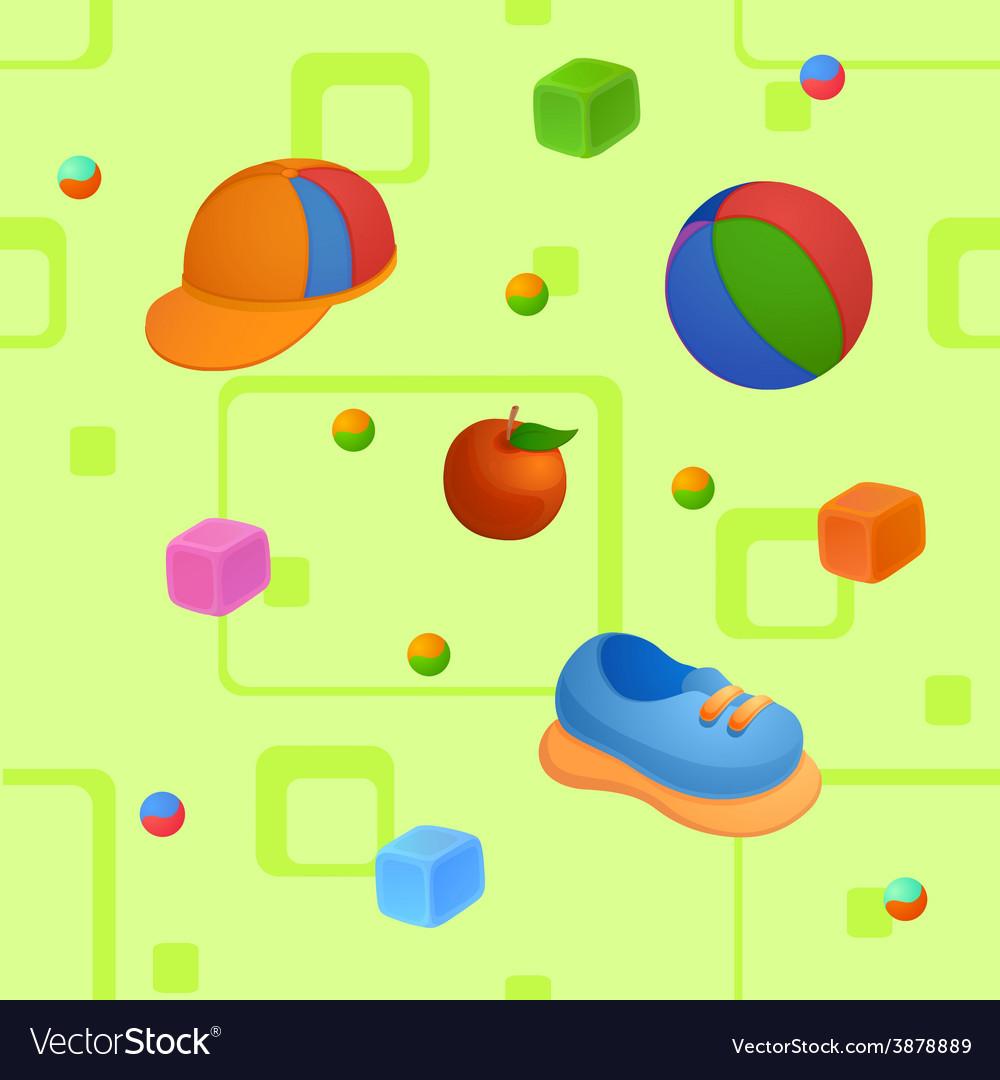 Childish background vector | Price: 1 Credit (USD $1)