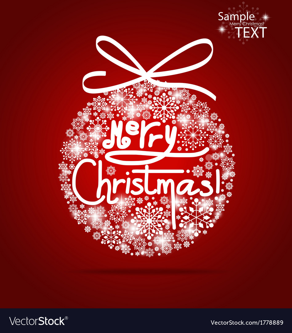 Christmas background with merry christmas tree vector | Price: 1 Credit (USD $1)