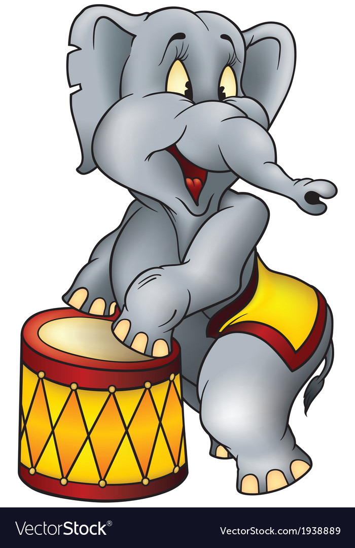 Circus elephant vector | Price: 1 Credit (USD $1)