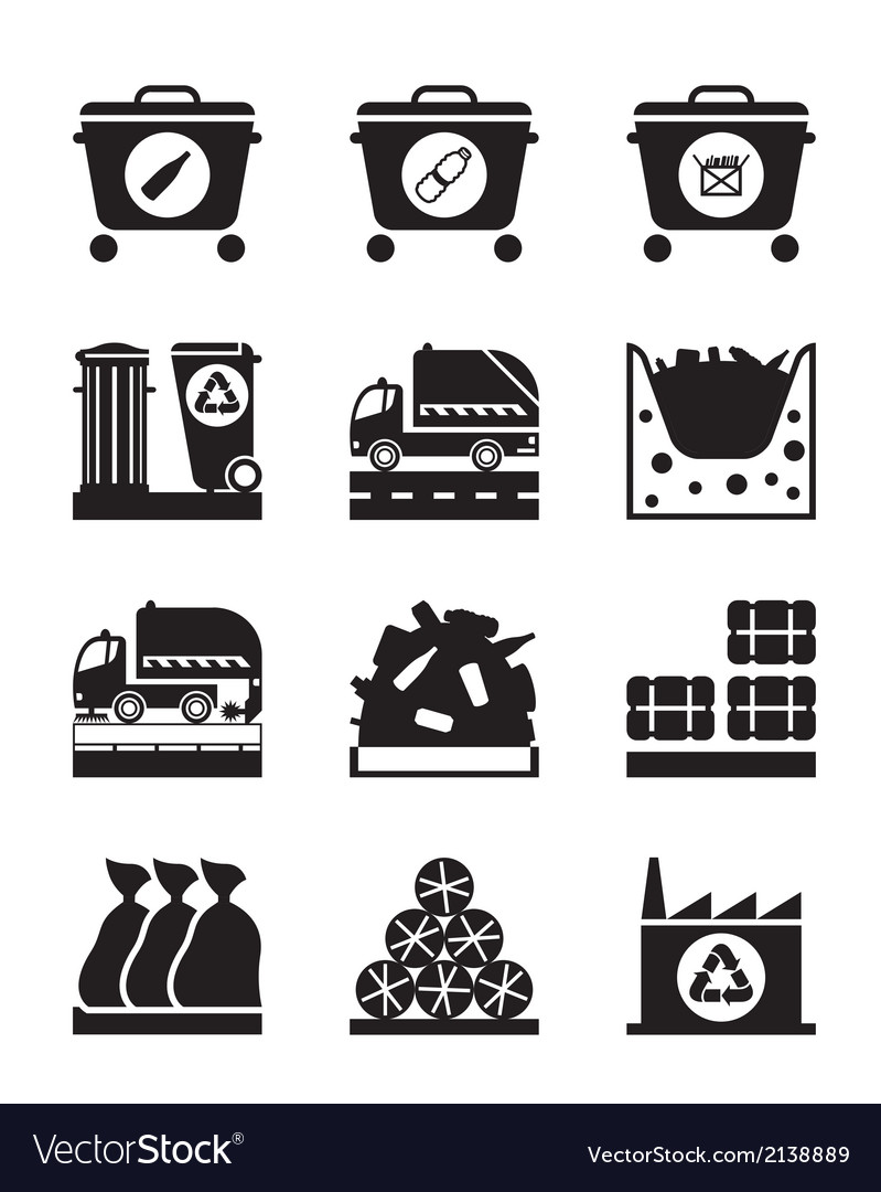 Collection and processing of garbage vector | Price: 1 Credit (USD $1)