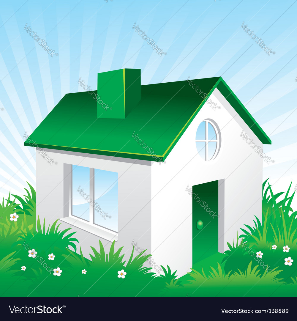 Eco friendly house vector | Price: 1 Credit (USD $1)
