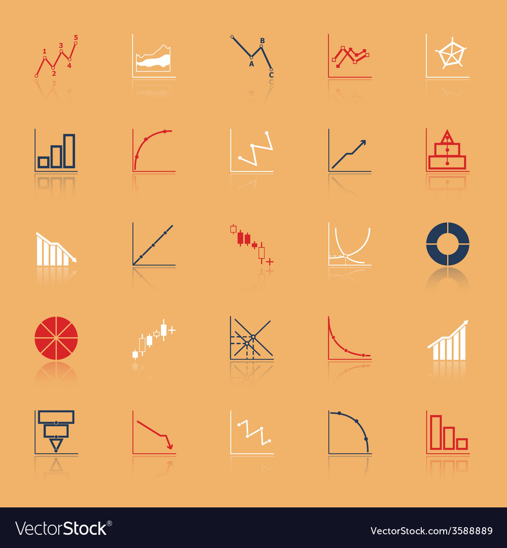 Economic and investment diagram line icon with vector | Price: 1 Credit (USD $1)