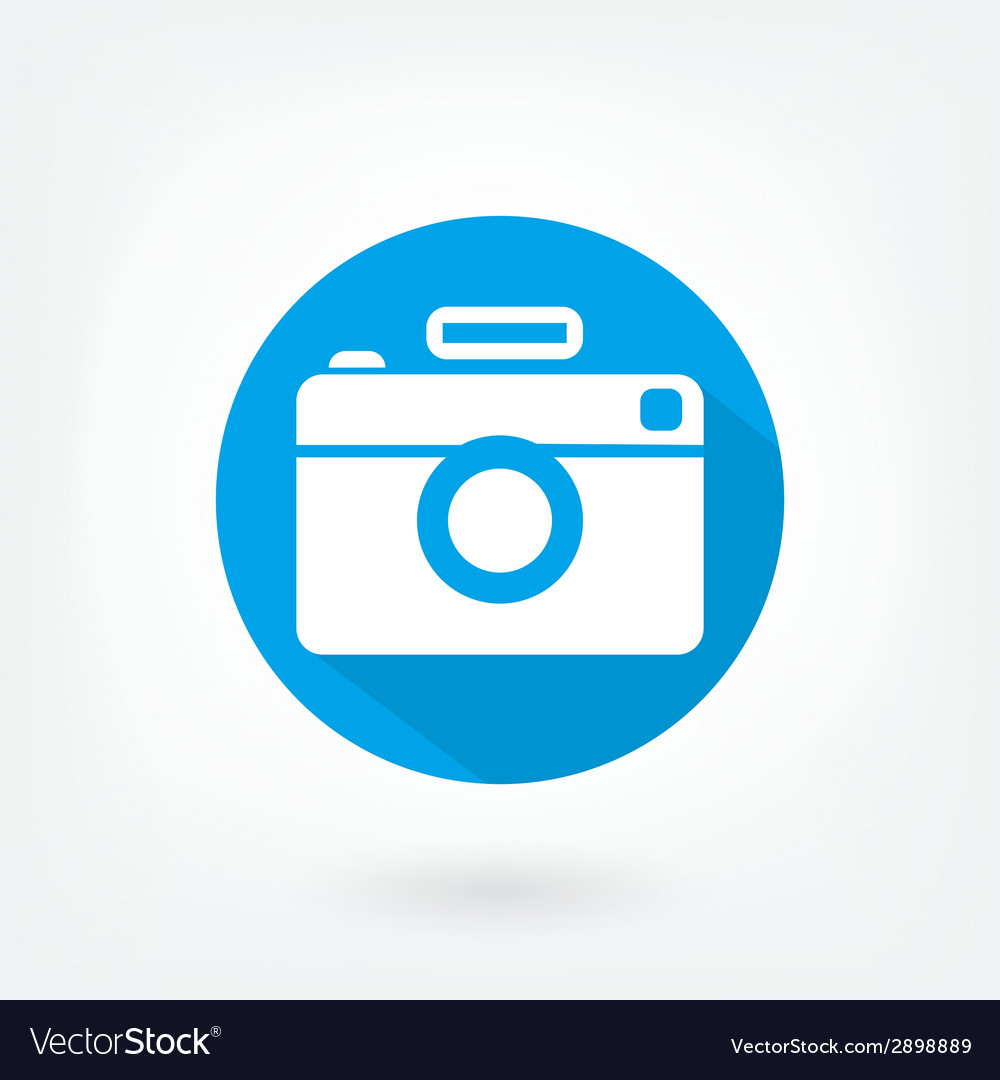 Flat styled icon of film camera vector | Price: 1 Credit (USD $1)