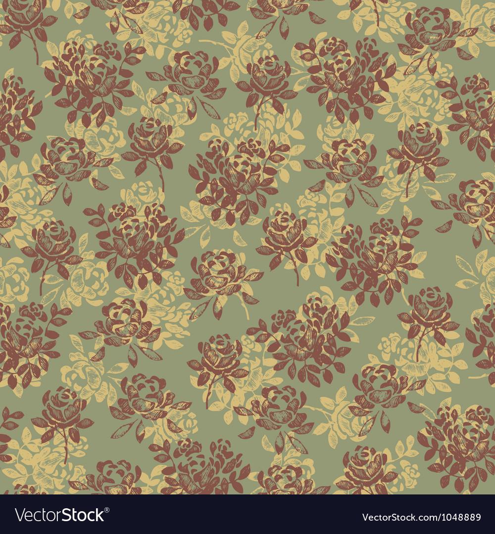 Flower pattern green vector | Price: 1 Credit (USD $1)