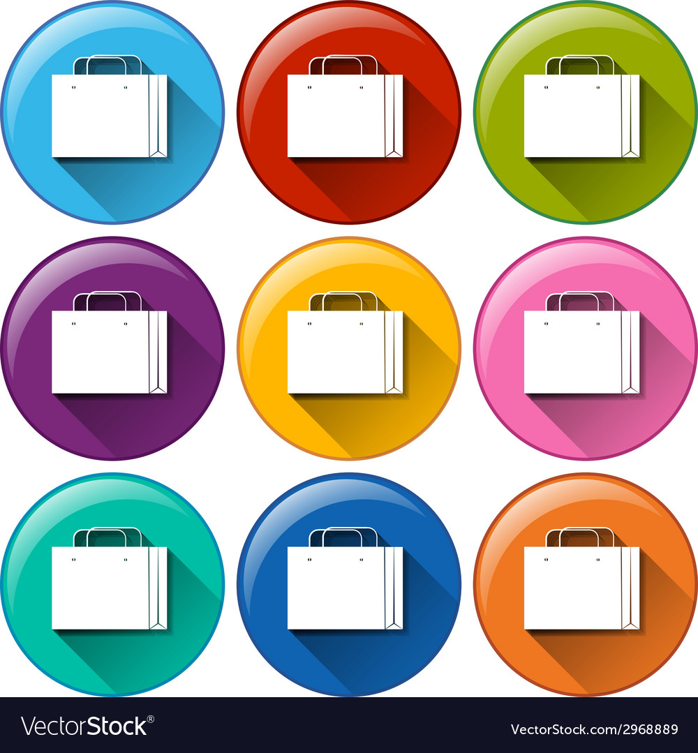 Icons with shopping bag vector | Price: 1 Credit (USD $1)