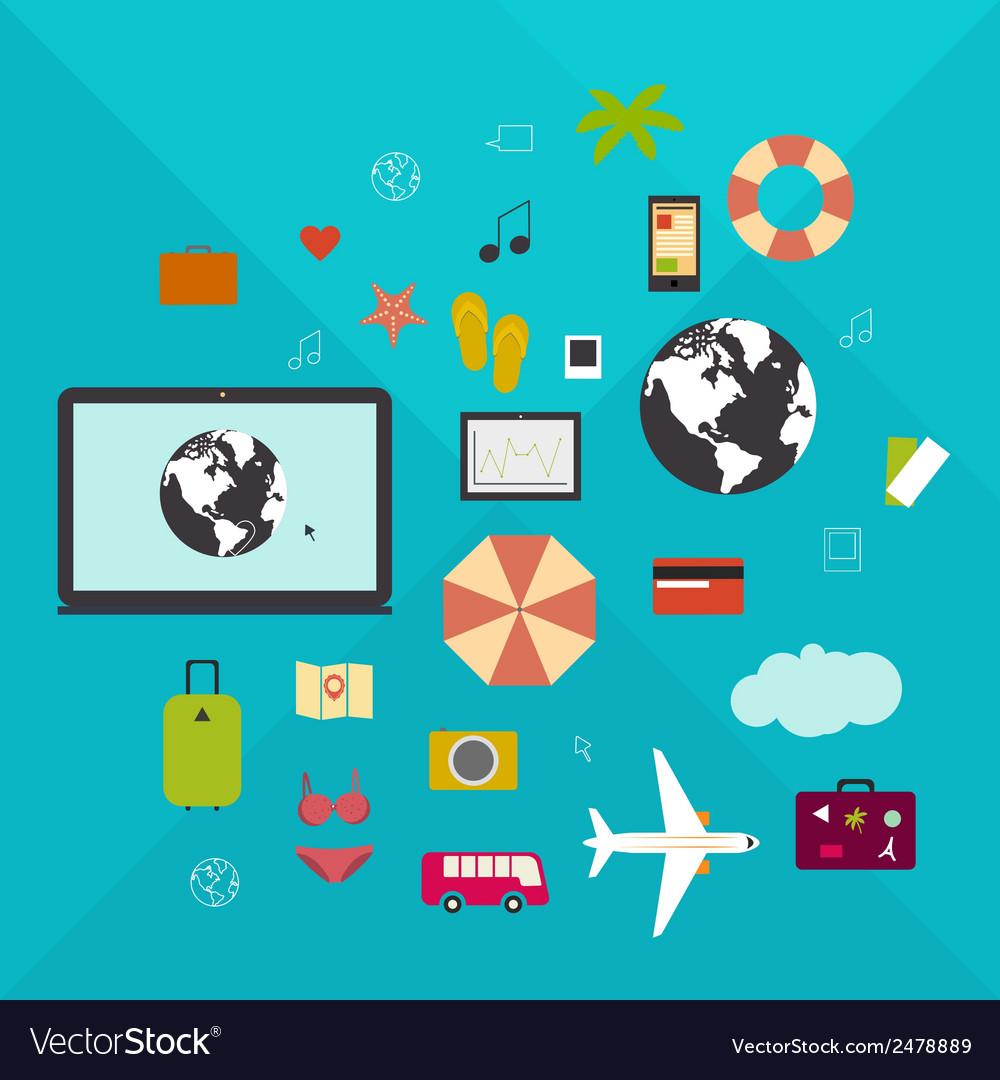 Online travel vector   Price: 1 Credit (USD $1)