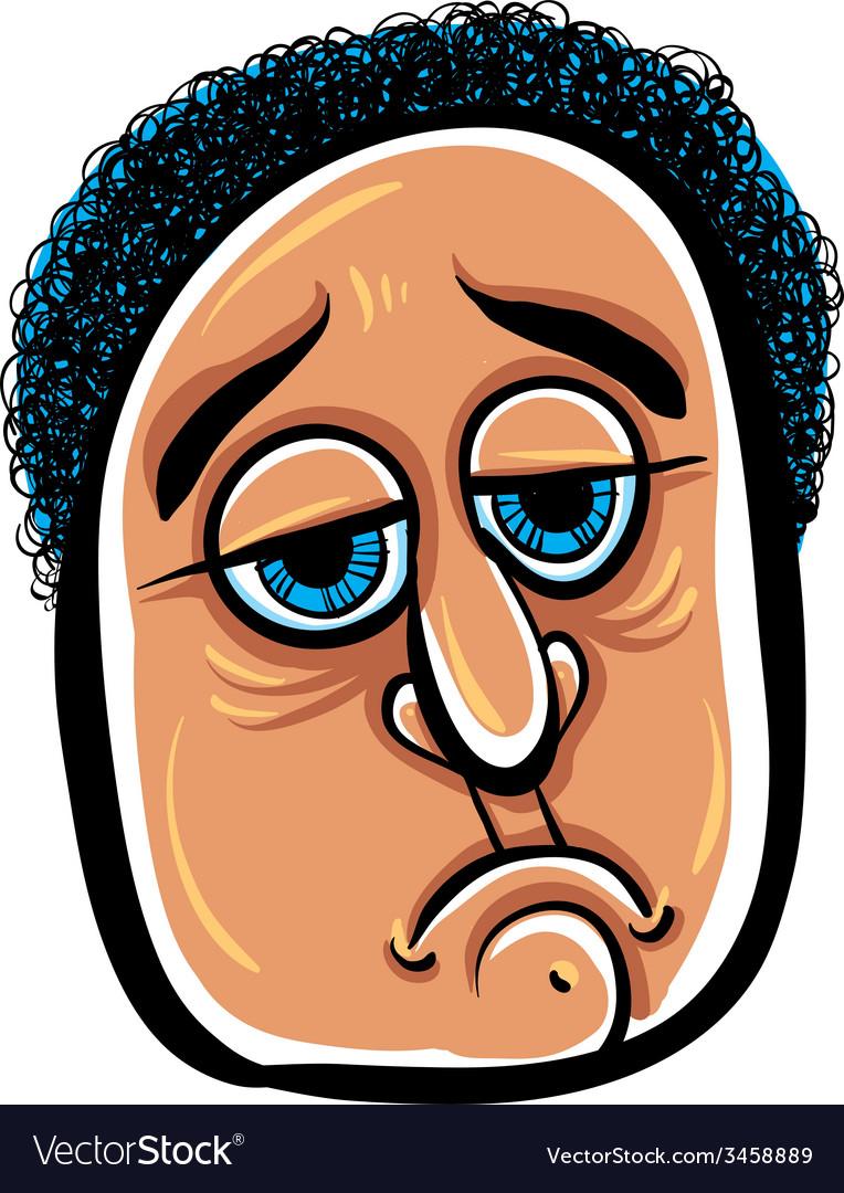Sad cartoon face vector   Price: 1 Credit (USD $1)