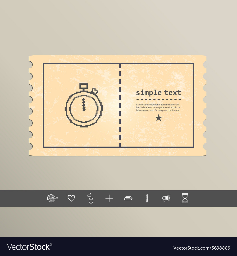 Simple stylish pixel icon stopwatch design vector | Price: 1 Credit (USD $1)