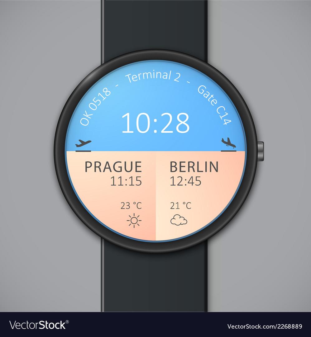 Smartwatch mockup - weather vector | Price: 1 Credit (USD $1)