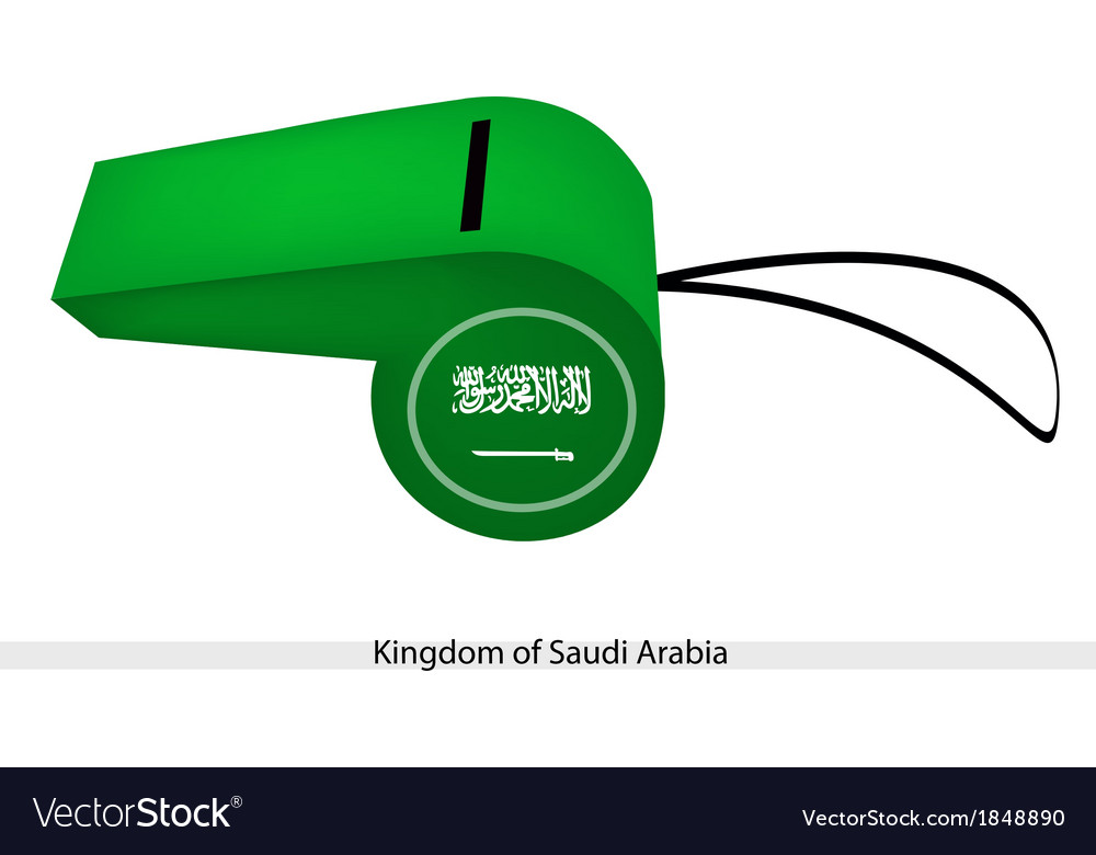 A whistle of kingdom of saudi arabia vector | Price: 1 Credit (USD $1)