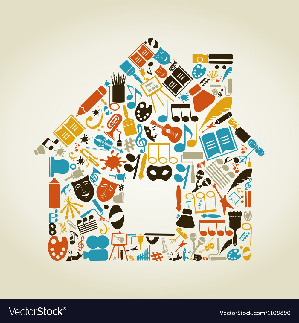 Art the house vector | Price: 1 Credit (USD $1)