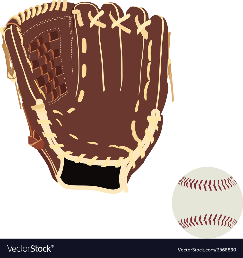 Baseball glove and ball vector | Price: 1 Credit (USD $1)