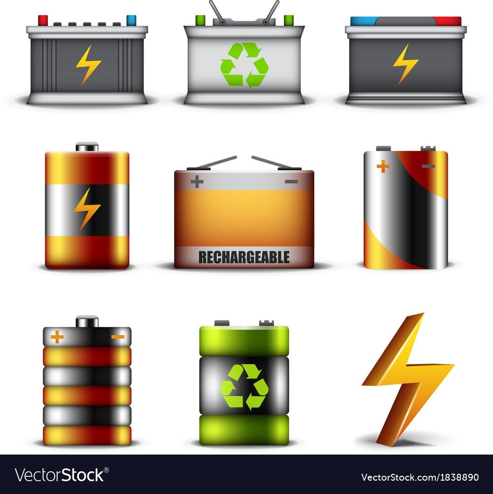 Batteries vector | Price: 1 Credit (USD $1)
