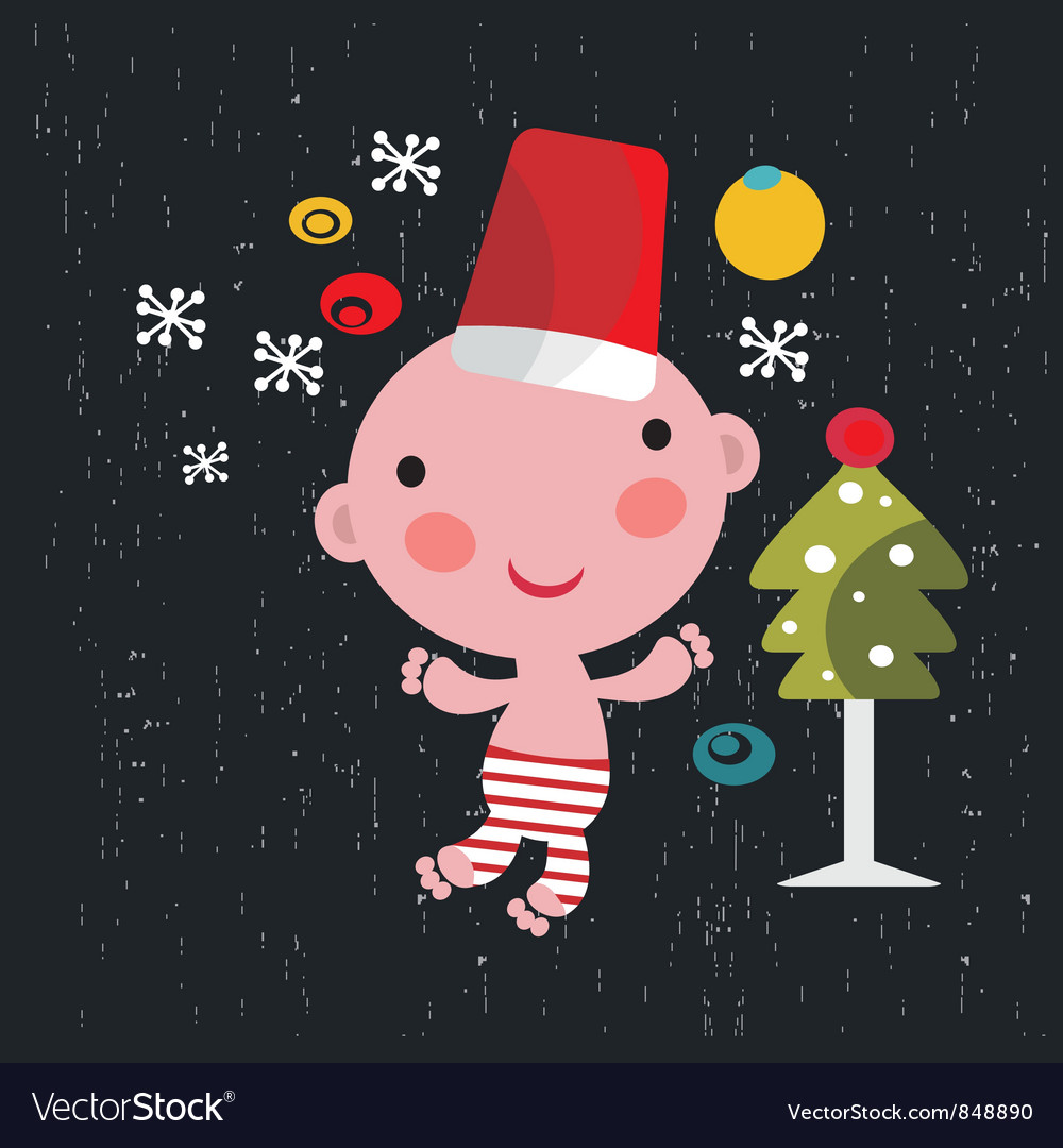 Christmas baby vector   Price: 3 Credit (USD $3)