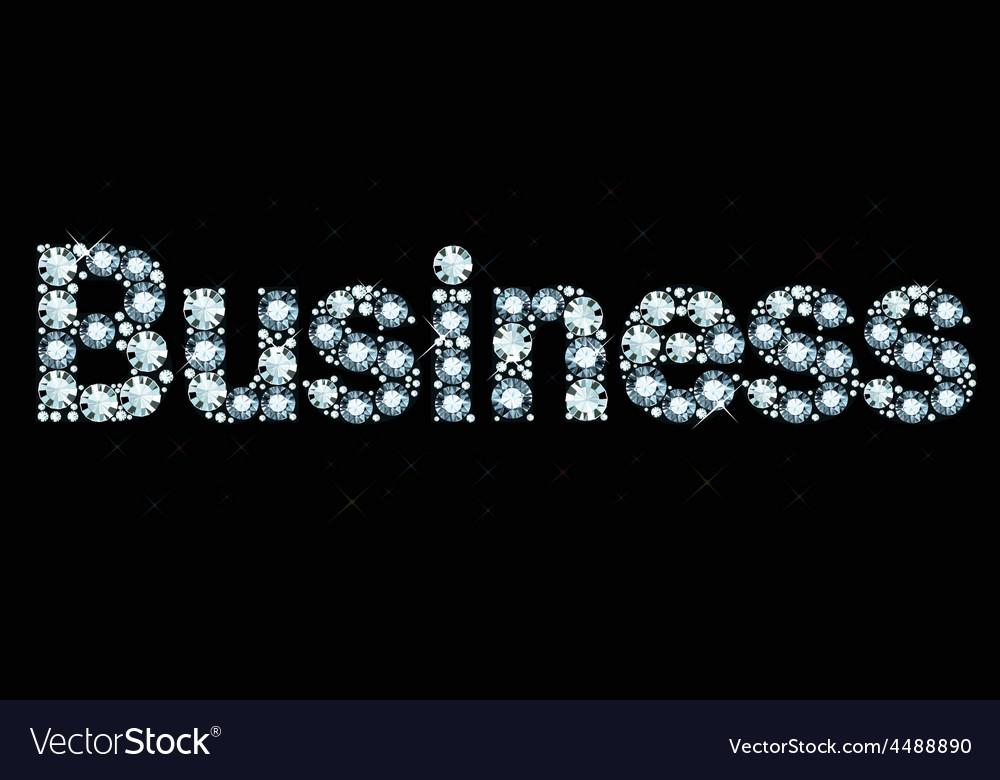 Diamond word business vector | Price: 1 Credit (USD $1)