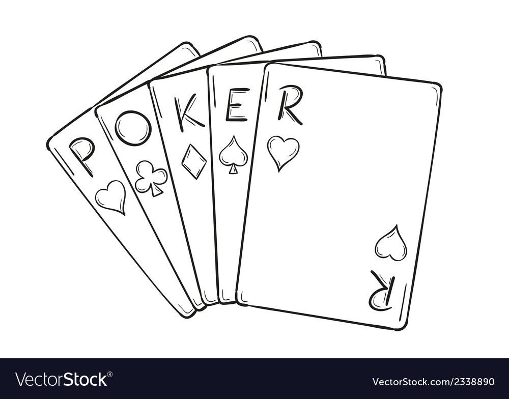 Five poker cards vector | Price: 1 Credit (USD $1)