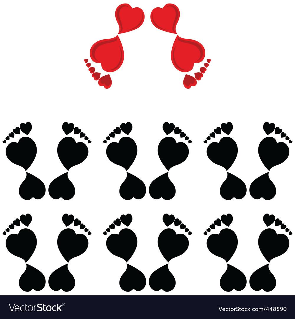 Human footprints vector | Price: 1 Credit (USD $1)
